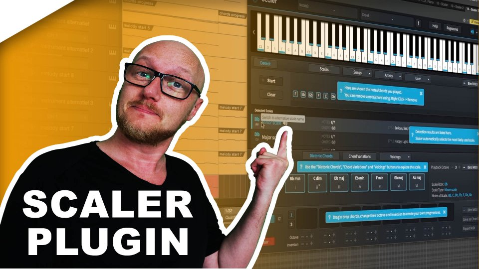 Best plugin for chords & key detection: Scaler!