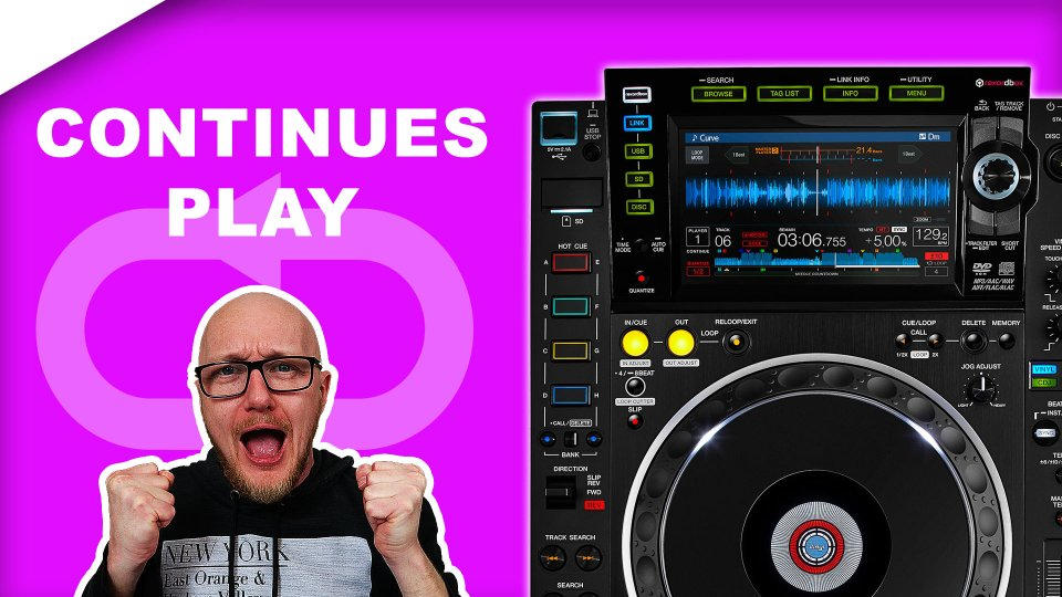 CDJ 2000 nexus 2 Continuous Play mode usb tutorial // auto cue