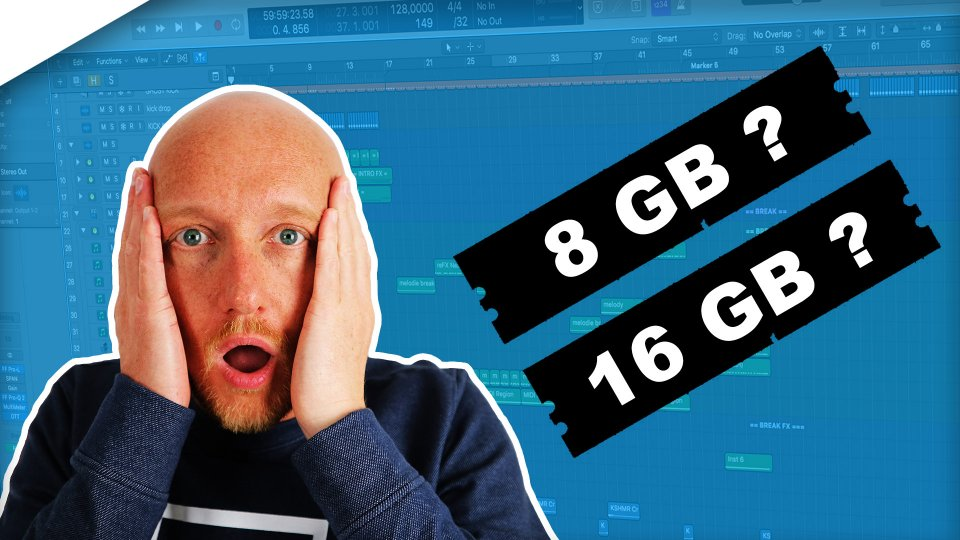 How much RAM memory do you need for music production