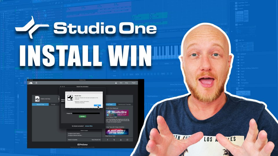 Install Studio One 4 Prime Artist Pro Windows