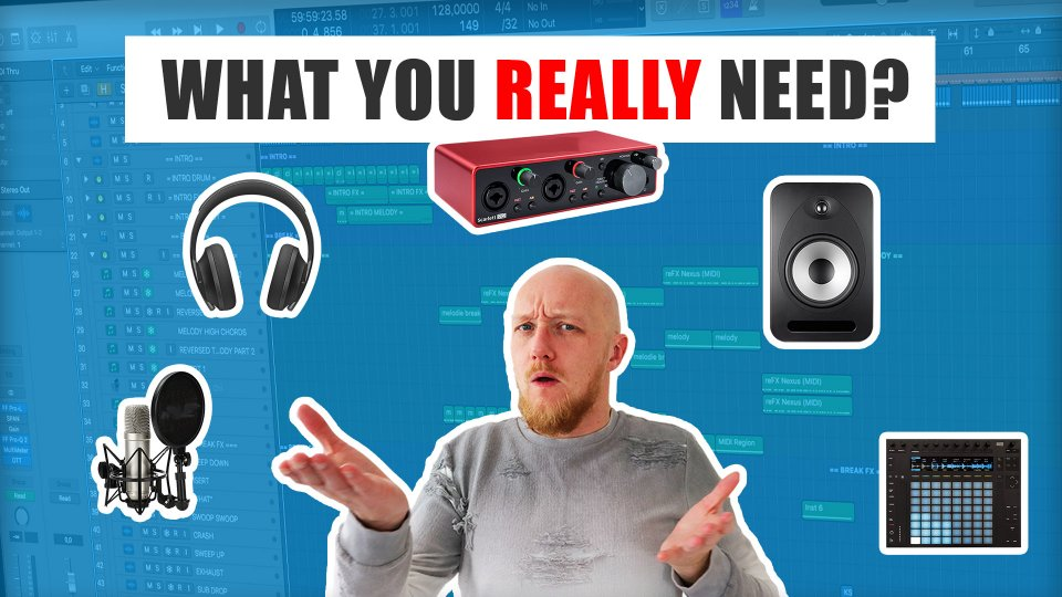 Music production equipment for beginners - what you REALLY need
