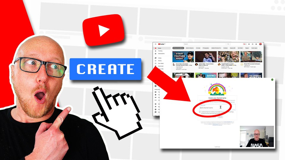 The steps to create a YouTube channel