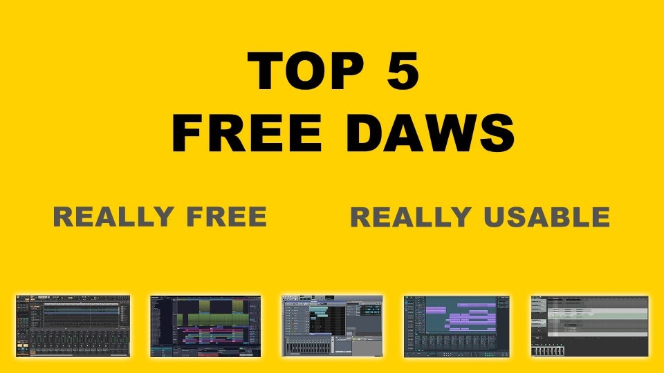 Top 5 best free DAWs - software for music production